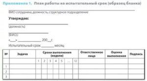 План на испытательный срок кладовщик образец