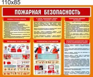Как оформить стенд по пожарной безопасности в организации