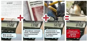 При какой сумме задолженности могут отключить газ