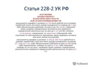 Будут ли поправки по 228 статье ч 2в 2019