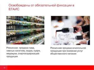 Егаис для ип в 2019 при продаже пивом