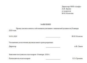 Заявление об увольнении с муниципальной службы по собственному желанию образец