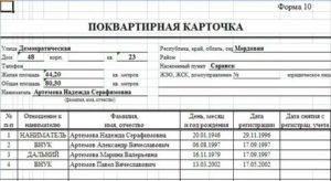 Справка по форме 10 из паспортного стола