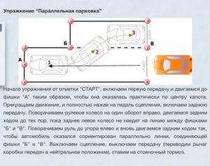 Параллельная парковка пошаговая инструкция на площадке описание