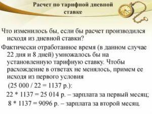 Как посчитать зарплату по тарифной ставке формула
