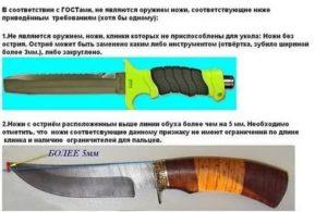 Какой штраф за ношение холодного оружия