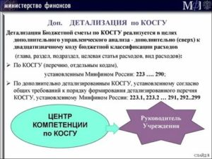 Расшифровка косгу 226 в бюджетных учреждениях с 2019 года