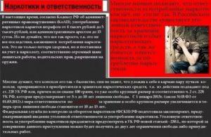 Есть ли статья за употребление травы в россии