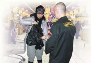 Охрана поймала с кражей в магазине что будет