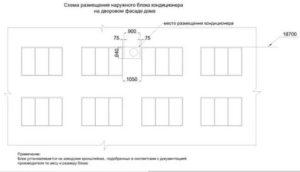 Согласование установки наружных блоков кондиционеров образец