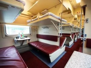 Как выглядит поезд в плацкарте