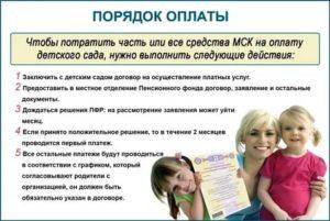 Какие документы нужны для оформления оплаты за садик материнским капиталом